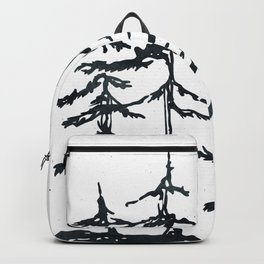 THE THREE SISTERS Black and White Backpack