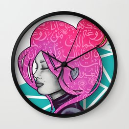Pink lady Wall Clock