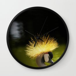 Crane Crown Wall Clock