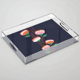 Benoít Flowers Acrylic Tray