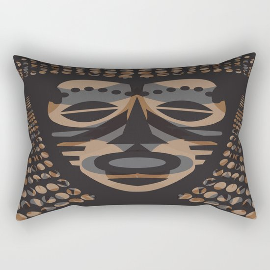 African Tribal Mask No. 1 Rectangular Pillow