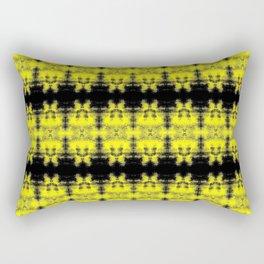 Yellow Black Diamond Gothic Pattern Rectangular Pillow