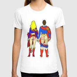 Superhero Butts Love 1 - Super Birds T-shirt