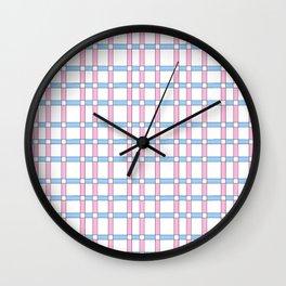 symetric tartan and gingham 27 -vichy, gingham,strip,square,geometric, sober,tartan Wall Clock
