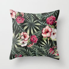 Tropical leave pattern 11.1 Throw Pillow