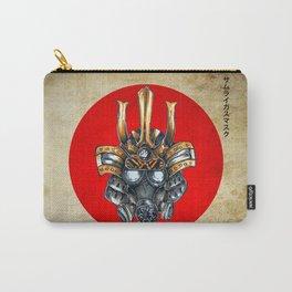 samurai gas mask Carry-All Pouch