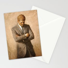 JFK - John F Kennedy Official Portrait by Aaron Shikler Stationery Cards