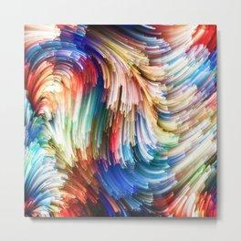 Colorful Splash Metal Print
