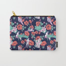 Gold-Bloom Carry-All Pouch