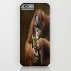 Orangutan and Butterfly Slim Case iPhone 6s