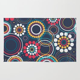 Flowers of Circles Rug