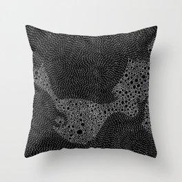 the mole's hyperacidity | black Throw Pillow