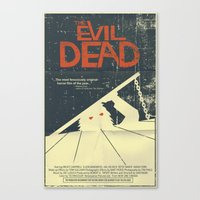 evil dead Canvas Prints featuring Evil Dead by Mark Welser