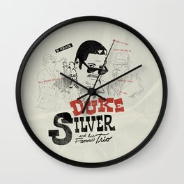 duke silver and his famous trio vintage poster Wall Clock