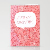 merry christmas Stationery Cards featuring Merry Christmas! by Fimbis