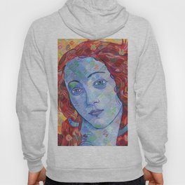 Variations On Botticelli's Venus - No. 3 (Primary Colors) Hoody