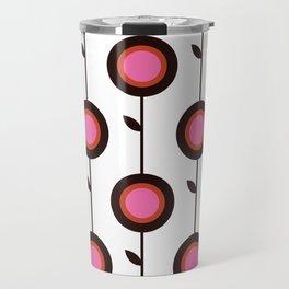 Retro 1960s style pattern flowers Travel Mug