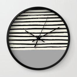 Storm Grey x Stripes Wall Clock