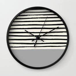 Storm Grey x Stripes Wall Clock