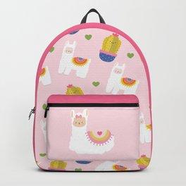 Llama Loves Pink Backpack