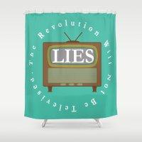 revolution Shower Curtains featuring Revolution by Jordan Renae Arp