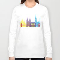 budapest Long Sleeve T-shirts featuring Budapest skyline pop by Paulrommer