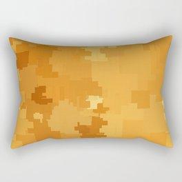 Butterscotch Square Pixel Color Accent Rectangular Pillow