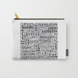 Types of coffee typography illustration Carry-All Pouch