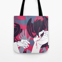 war Tote Bags featuring War by Greg Wright