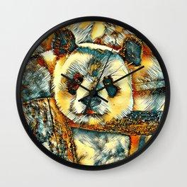 AnimalArt_Panda_20180101_by_JAMColors Wall Clock