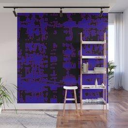 jitter, black blue, 3 Wall Mural