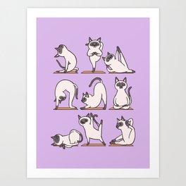 Siamese Cat Yoga Art Print