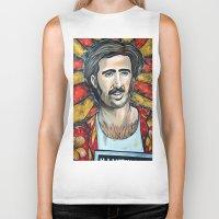 nicolas cage Biker Tanks featuring Raising Arizona Nicolas Cage by Portraits on the Periphery
