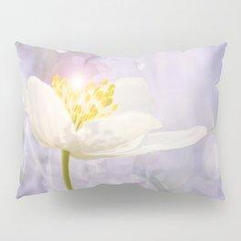 White Flower In The Forest Enchantments - Bokeh Background #decor #buyart #society6 Pillow Sham