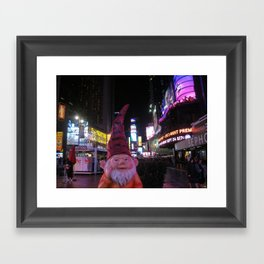 Times Square Gnome Framed Art Print