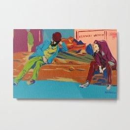 Drunks On a Log Metal Print