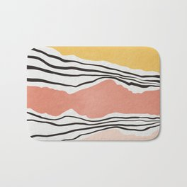 Modern irregular Stripes 01 Bath Mat