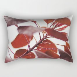 Red leaves in a London Fog by Diana Eastman Rectangular Pillow