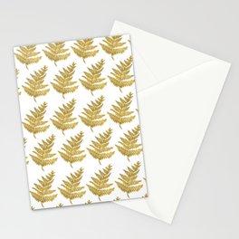 Gold Fern Leaf Stationery Cards