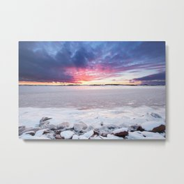 Prince Edward Island Winter Sunset Metal Print