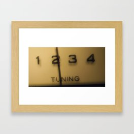 In my day, we tuned our own radios. Framed Art Print