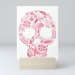 Pink Skull Survivor Mini Art Print