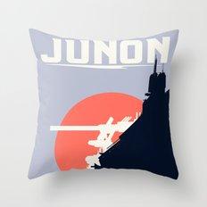 Final Fantasy VII - Visit Junon Propaganda Poster Throw Pillow