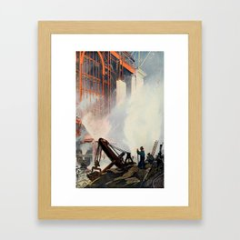 Oakley, Thornton (1881-1953) - Scribner's 52 1912 - Construction of New Grand Central Station Framed Art Print