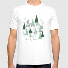 Forest Pattern Mens Fitted Tee SMALL White