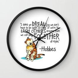 Calvin and Hobbes Dreams Wall Clock
