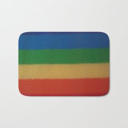 Rainbow Weaved Stripes Bath Mat