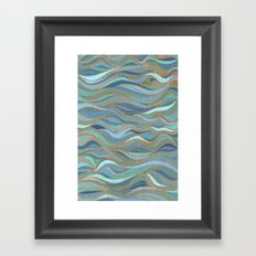 Wave lines 1 Framed Art Print