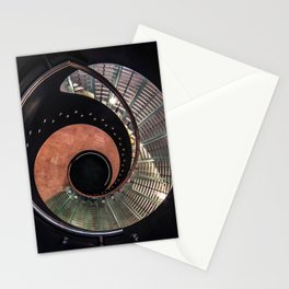 Spiral glass staircase Stationery Cards