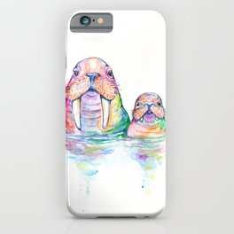 Warbling Walruses iPhone Case